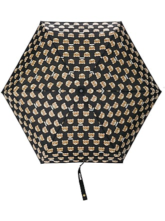 Moschino teddy bear print umbrella - Black