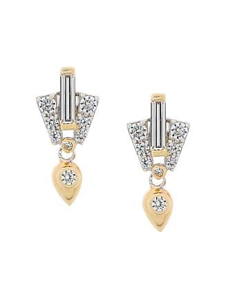 V JEWELLERY Par de brincos Aida de prata banhada a ouro - Metálico