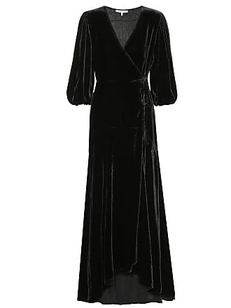 Ganni Silk-blend velvet wrap dress