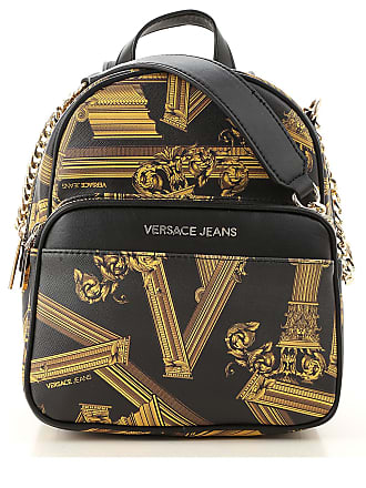 84b61157e82 Versace Backpack for Women On Sale, Black, Saffiano Leather, 2017, one size