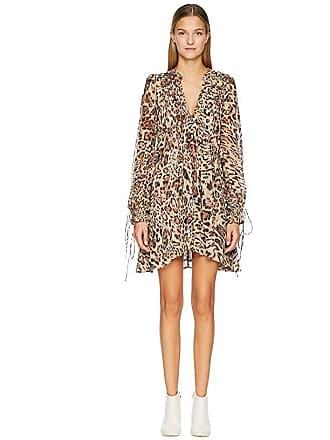 8690b846d3ac The Kooples Long Asymmetrical Dress In Silk Muslin (Leopard) Womens Dress
