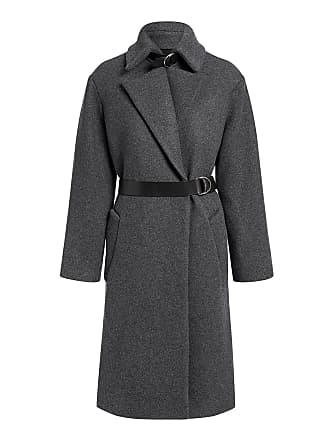 Iro Accelerate Wool-blend Belted Long Coat Charcoal