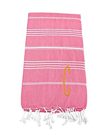 Cathy's Concepts Personalized Turkish Towel, Dark Pink, Letter C