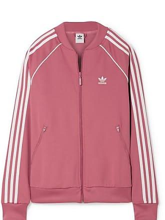 7ca68469eb4 adidas Originals Veste De Survêtement En Jersey À Rayures Sst - Rose