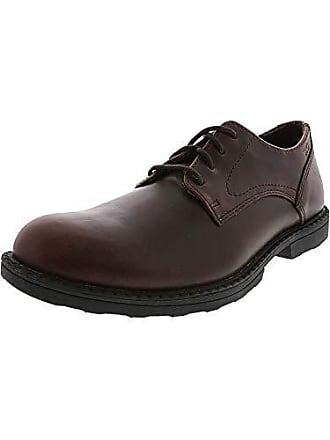 Wolverine Mens Bedford Soft-Toe Oxford SR Food Service Shoe, Brown, 9 Extra Wide US
