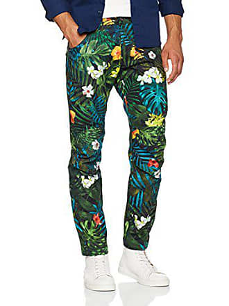G-Star Mens 5622 Elwood X25 Jeans by Pharrell Williams in Aloha, Sage Allover/Black, 30x32