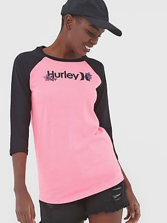 Hurley Camiseta Hurley Raglan O&O Rosa