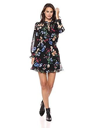 46bf9048f09 Parker Womens Paisley Long Sleeve Smocked Short Dress