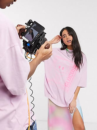 Collusion Unisex - Oversize-T-Shirt in Rosa mit Glucose-Print