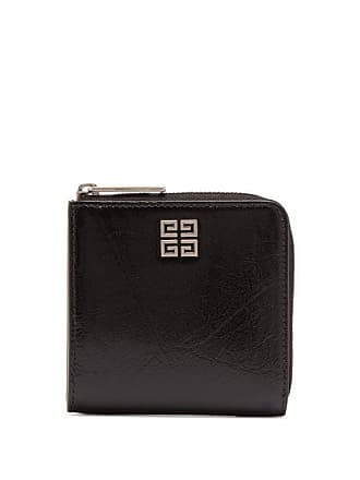 Givenchy Logo Embellished Zip Fastening Leather Coin Purse - Mens - Black