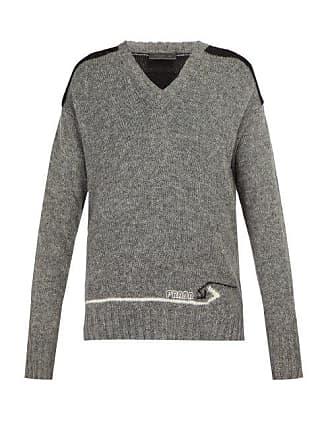 290b2291b7f Prada Pull en laine à empiècement contrastant