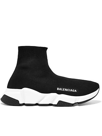 1c26cdda74742 Balenciaga Speed Logo-print Stretch-knit High-top Sneakers - Black