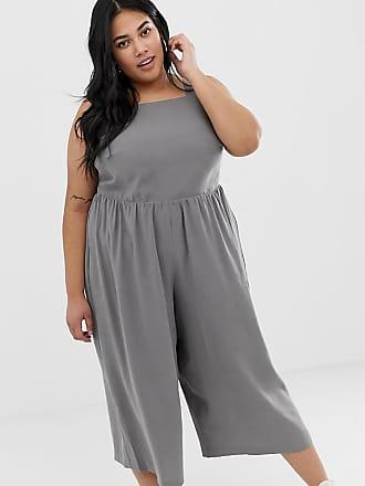 5152a7e09d8 Asos Curve ASOS DESIGN Curve minimal jumpsuit with ruched waist - Black