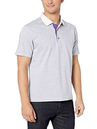 775ff049 Robert Graham Mens NORTHCLIFF Short Sleeve Knit Polo, White 2XLARGE
