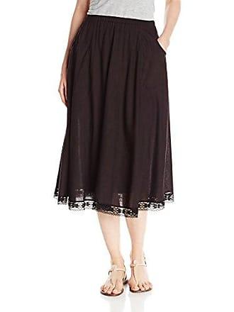 Only Hearts Womens Sareeta Mid-Calf Skirt, Black, X-Small