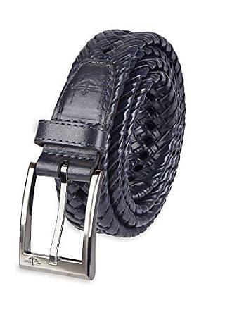 Dockers Mens Braided Belt, Navy, 44
