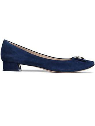 a027799b7b86 Tory Burch Tory Burch Woman Embellished Suede Pumps Navy Size 9.5