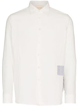 78Stitches Camisa com patchwork bordado - Branco