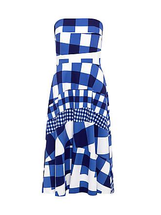 être cécile GINGHAM BANDEAU DRESS True Blue