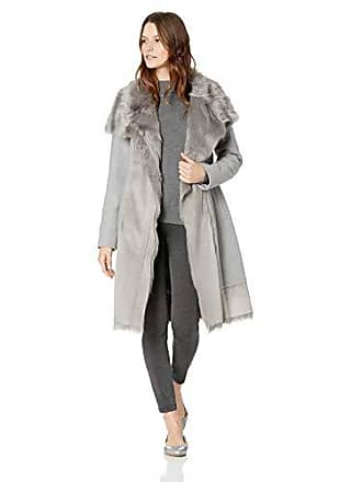 a18f4efb2898f8 Vince Camuto Womens Wool Coat with Bonded Faux Fur Combo, Light Grey, Extra  Large