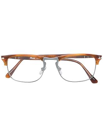 Persol Armação de óculos quadrada - Marrom