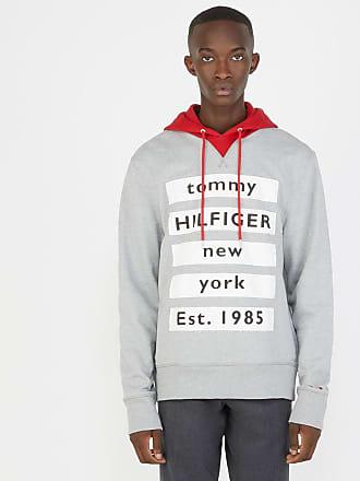Tommy Hilfiger Sweat ample à capuche contrastante et bandes siglées Gris Tommy  Hilfiger 1fab0bc35f97