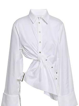 e6db764d66bfed Marques Almeida Marques Almeida Woman Twist-front Cutout Cotton-twill Shirt  White Size XL