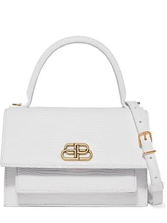 c13da8264 Balenciaga Sharp Xs Lizard-effect Leather Shoulder Bag - White