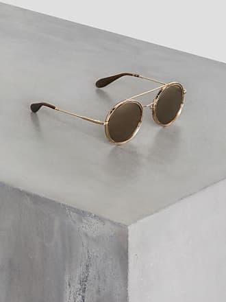 BCBGeneration Round Metal Aviator Sunglasses
