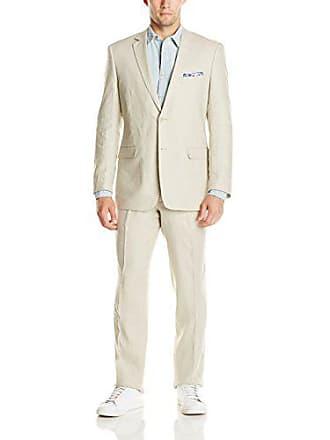U.S.Polo Association Mens Linen Suit, Natural Tan, 46 Long