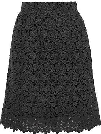 c0a75cb6a03452 Dolce   Gabbana Dolce   Gabbana Woman Wool And Cotton-blend Guipure Lace  Skirt Dark