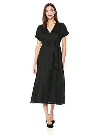 30f2b8eee6e8 Mara Hoffman Womens Ingrid Short Sleeve Wrap Midi Dress, Black Medium