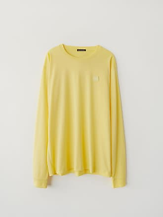 Acne Studios FA-UX-TSHI000018 Pale yellow Long sleeve crew neck