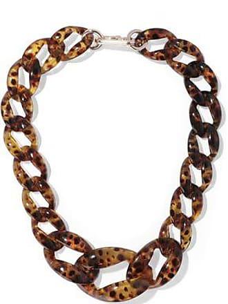 Kenneth Jay Lane Kenneth Jay Lane Woman Tortoiseshell Acetate Necklace Animal Print Size