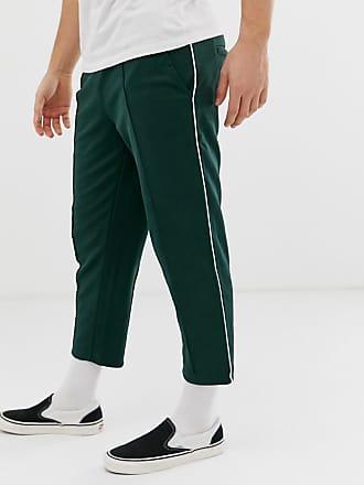 4b9a4466f1c32d Only   Sons Pantalon de jogging court fuselé avec rayure sur le côté - Vert