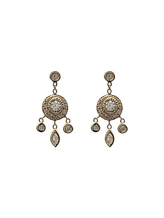 daa61a093 Jacquie Aiche 14K yellow gold dream catcher diamond drop earrings