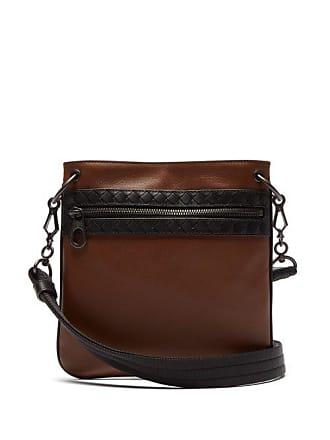 29403a37d4 Bottega Veneta Intrecciato Woven Leather Cross Body Bag - Mens - Brown