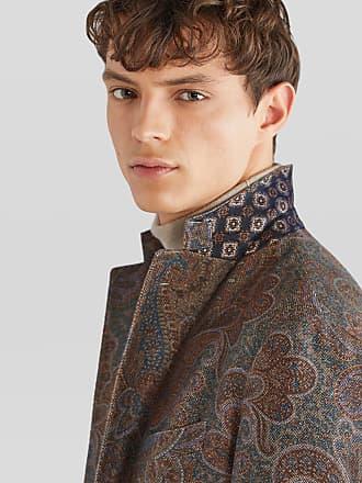 Etro Paisley Print Tailored Jacket, Man, Brown, Size 48