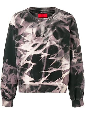 424 printed sweatshirt - Preto
