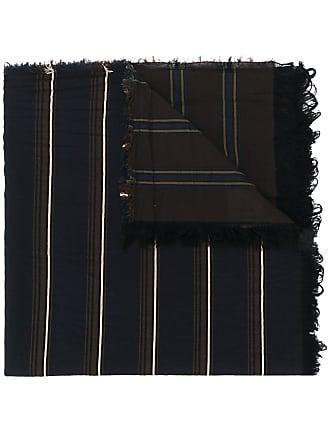 Uma Wang long striped scarf - Blue
