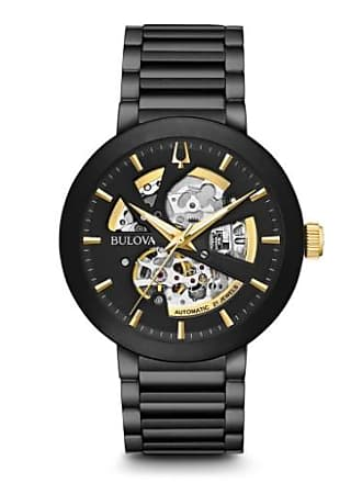 8e41e10c7 Bulova 98A203 Modern Automatic Mens Watch Black 42mm Stainless Steel