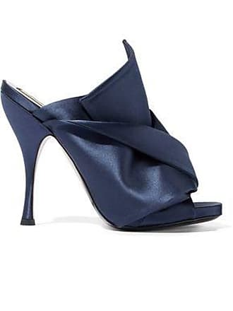 N°21 Woman Knotted Satin Mules Navy Size 38.5