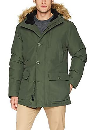 Goodthreads Mens Down Filled Hooded Parka, Olive, Medium