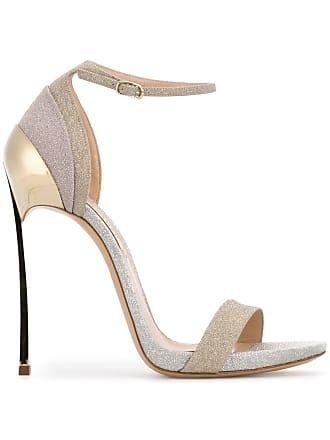 Casadei open toe glitter sandals - Gold
