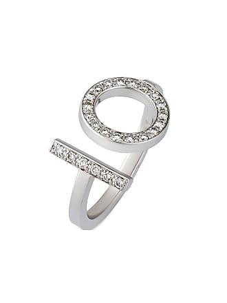 Hermès Estate 18K White Gold Diamond Ring, Size 6.25