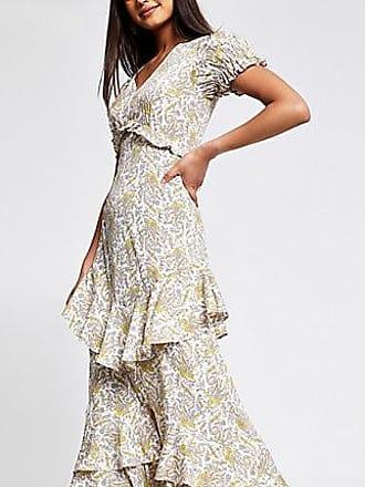 River Island Womens Cream paisley print maxi dress