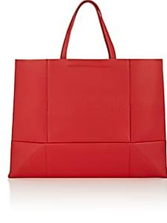 d2e570dcd38e CALVIN KLEIN 205W39NYC Womens Amazon East West Leather Tote Bag - Red
