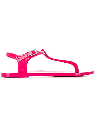 Love Moschino heart thong-strap sandals - Pink