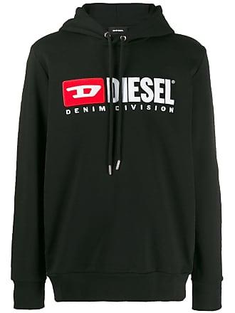 Diesel logo printed hoodie - Black