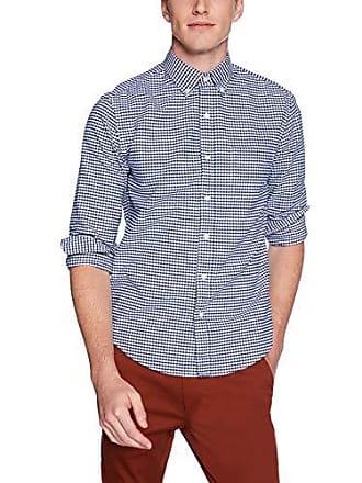J.crew Mens Slim-Fit Long-Sleeve Oxford Gingham Shirt, Dark Royal, M